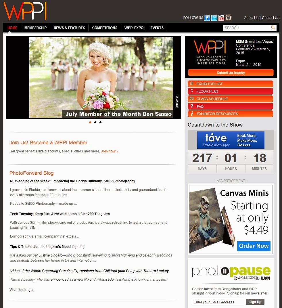 |公告| 取得WPPI 國際婚禮攝影協會攝影師